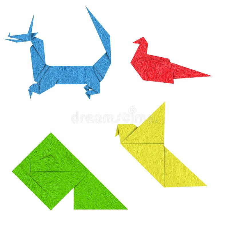 ζωηρόχρωμο origami στοκ εικόνες με δικαίωμα ελεύθερης χρήσης