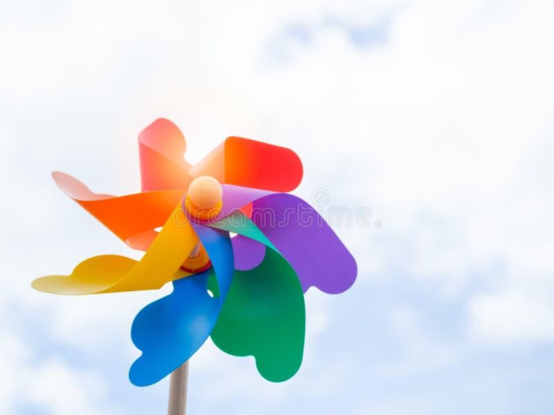ζωηρόχρωμο pinwheel στοκ εικόνες
