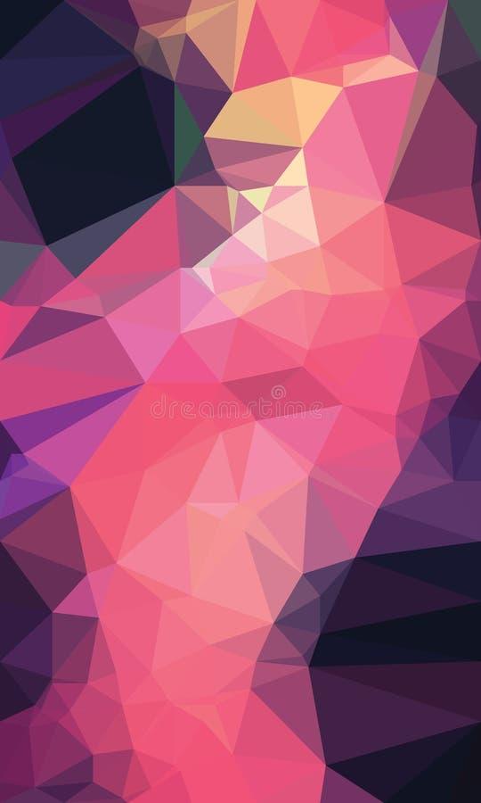 Ζωηρόχρωμο polygonal backgroound στοκ φωτογραφίες