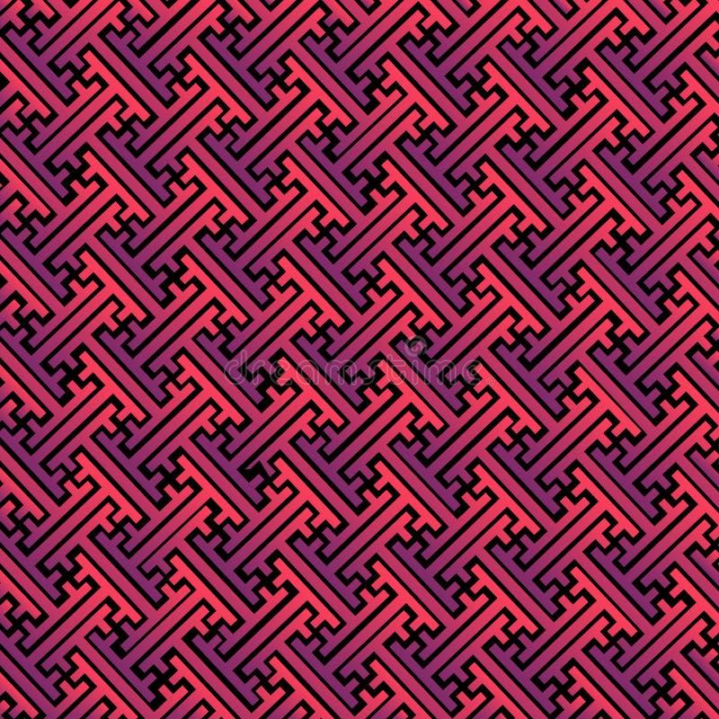 Ζωηρόχρωμο psychedelic σχέδιο, ύφος sayagata, φωτεινά χρώματα κλίσης Διανυσματικό αφηρημένο γεωμετρικό υπόβαθρο ασιατικός απεικόνιση αποθεμάτων