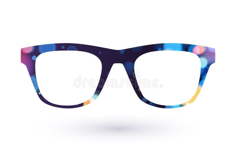 Ζωηρόχρωμο simbol εικονιδίων πλαισίων γυαλιών ελεύθερη απεικόνιση δικαιώματος