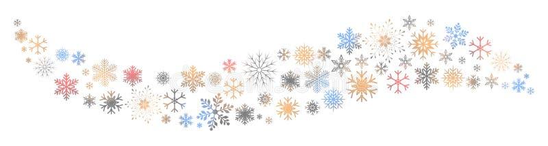 Ζωηρόχρωμο snowflake κυμάτων υπόβαθρο - διάνυσμα απεικόνιση αποθεμάτων