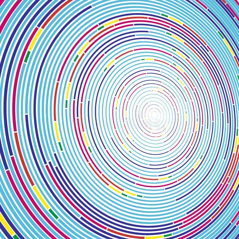 Ζωηρό αφηρημένο υπόβαθρο στο μινιμαλιστικό ύφος που γίνεται από τους ζωηρόχρωμους κύκλους Επιχειρησιακή έννοια για τη διακόσμηση  ελεύθερη απεικόνιση δικαιώματος
