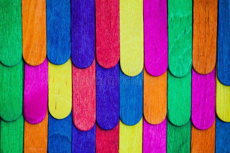 Ζωηρό ξύλο στεγών χρώματος στοκ εικόνες με δικαίωμα ελεύθερης χρήσης