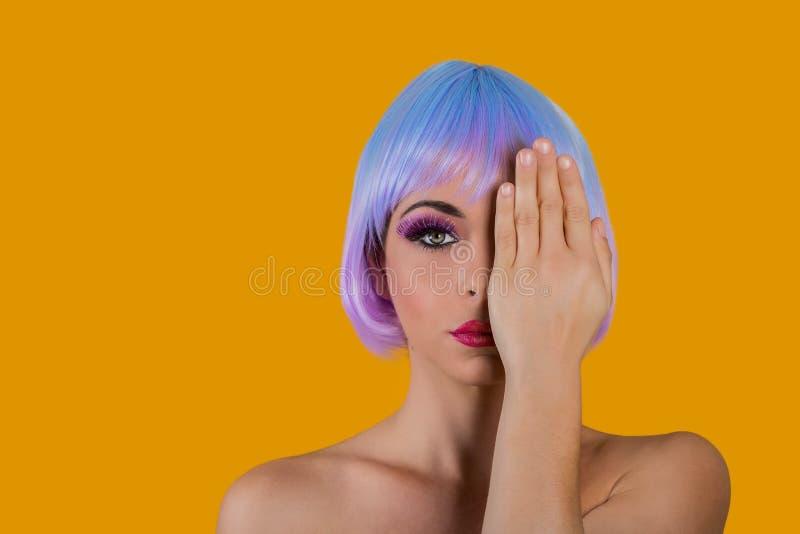 Ζωηρό πρότυπο καλύπτοντας μάτι μόδας στοκ εικόνες