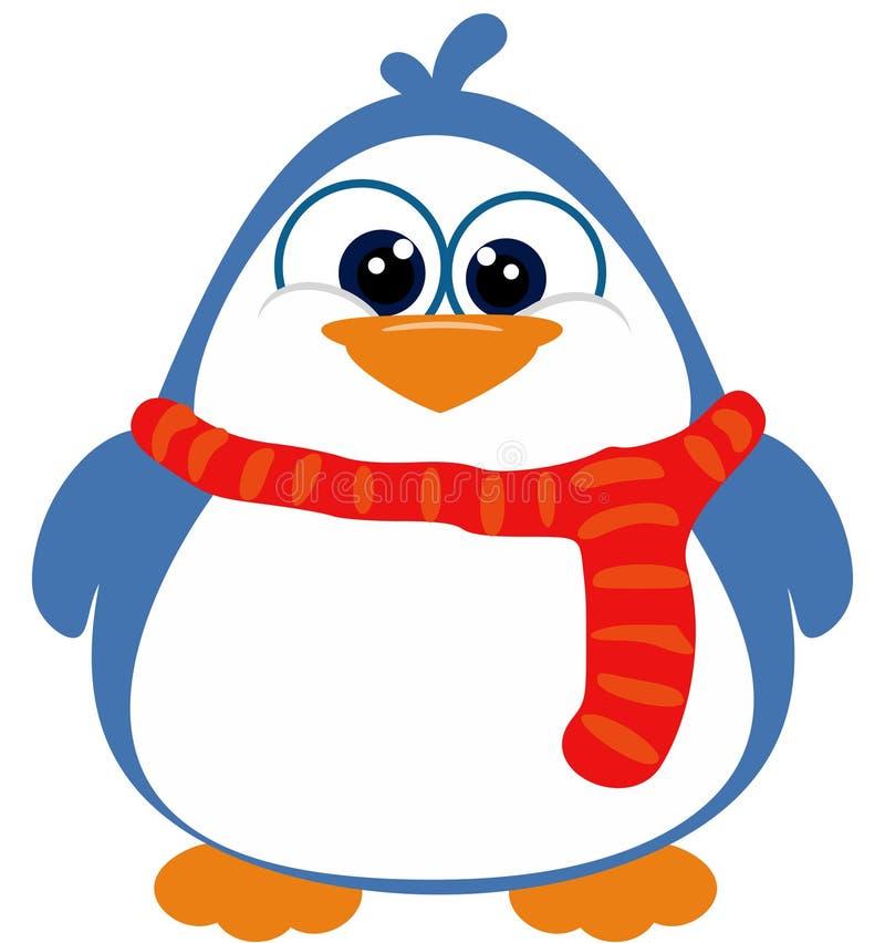 Ζωηρό Penguin με το μαντίλι απεικόνιση αποθεμάτων
