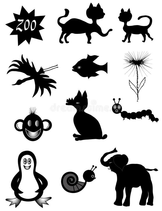ζωικά σύμβολα διανυσματική απεικόνιση