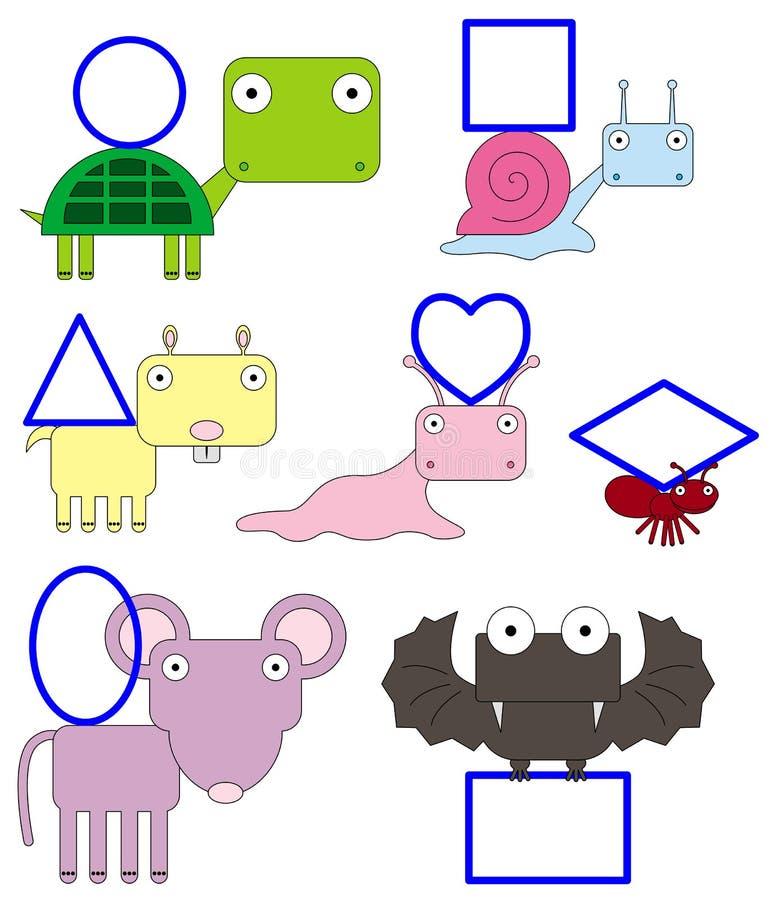Ζωικές μορφές διανυσματική απεικόνιση