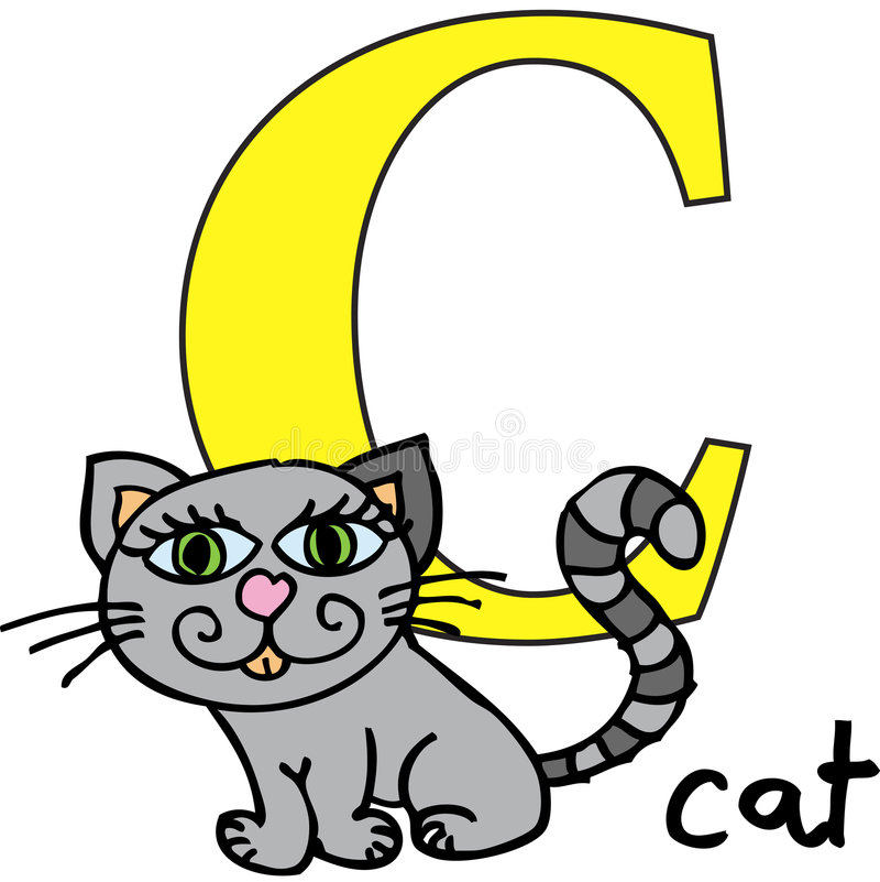 ζωική γ γάτα αλφάβητου
