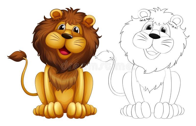 Ζωική περίληψη για το άγριο λιοντάρι ελεύθερη απεικόνιση δικαιώματος