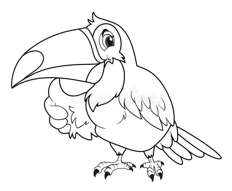 Ζωική περίληψη για το toucan πουλί διανυσματική απεικόνιση