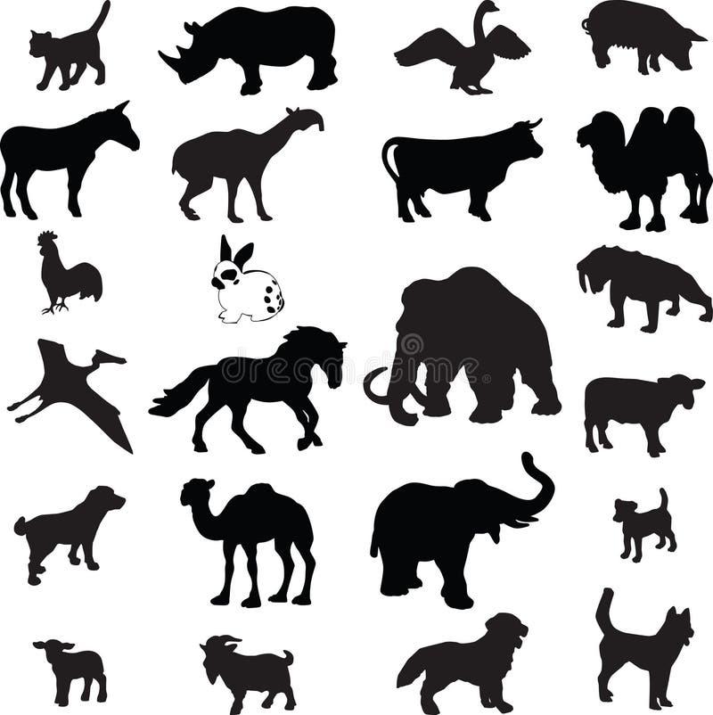 ζωική σκιαγραφία διανυσματική απεικόνιση