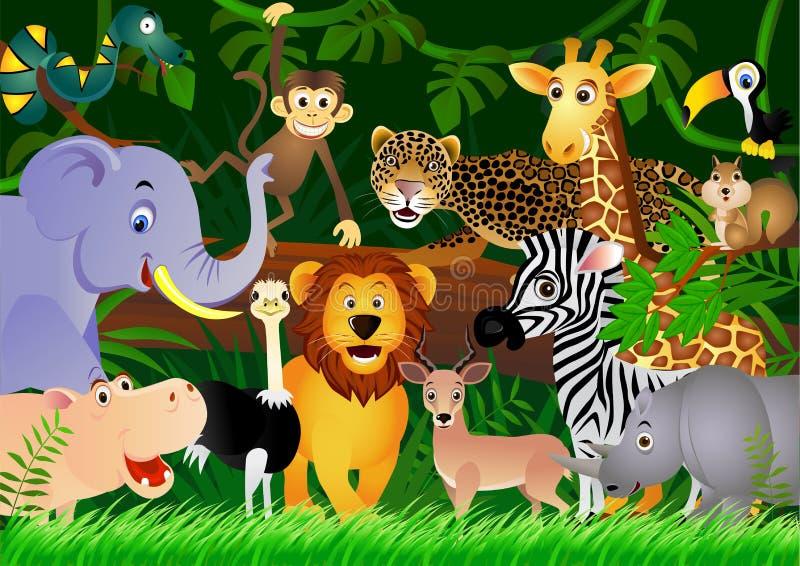 ζωική χαριτωμένη ζούγκλα &kappa διανυσματική απεικόνιση