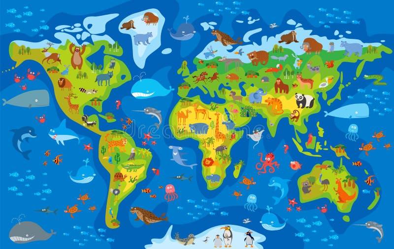 Ζωικός κόσμος χαρακτήρας κινουμένων σχ&eps απεικόνιση αποθεμάτων