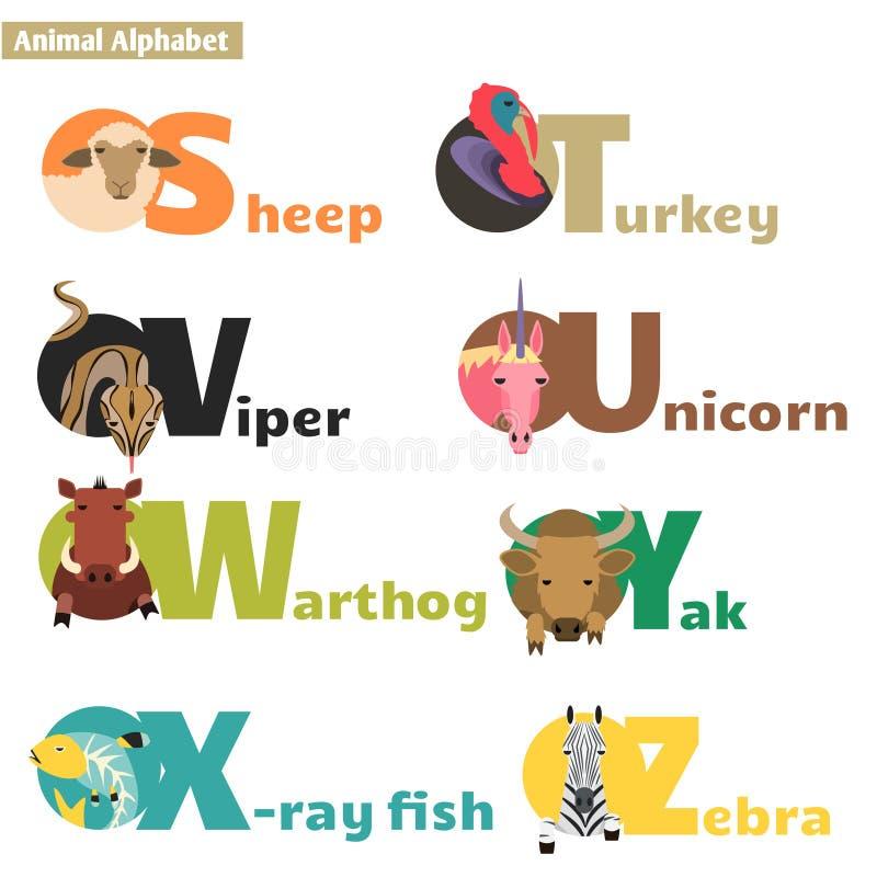 Ζωικό αλφάβητο 4 απεικόνιση αποθεμάτων