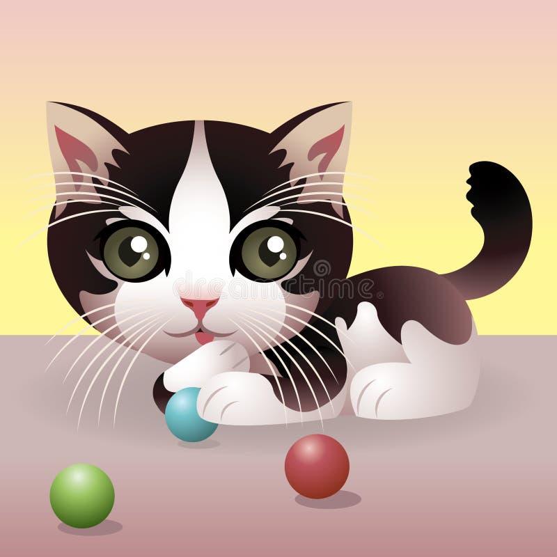 ζωικό γατάκι συλλογής μωρών ελεύθερη απεικόνιση δικαιώματος