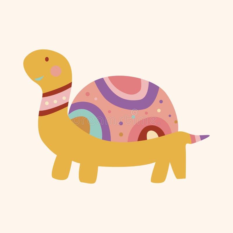 Ζωικό διάνυσμα στοιχείων θέματος κινούμενων σχεδίων χελωνών, eps απεικόνιση αποθεμάτων