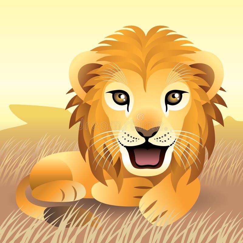 ζωικό λιοντάρι συλλογής ελεύθερη απεικόνιση δικαιώματος