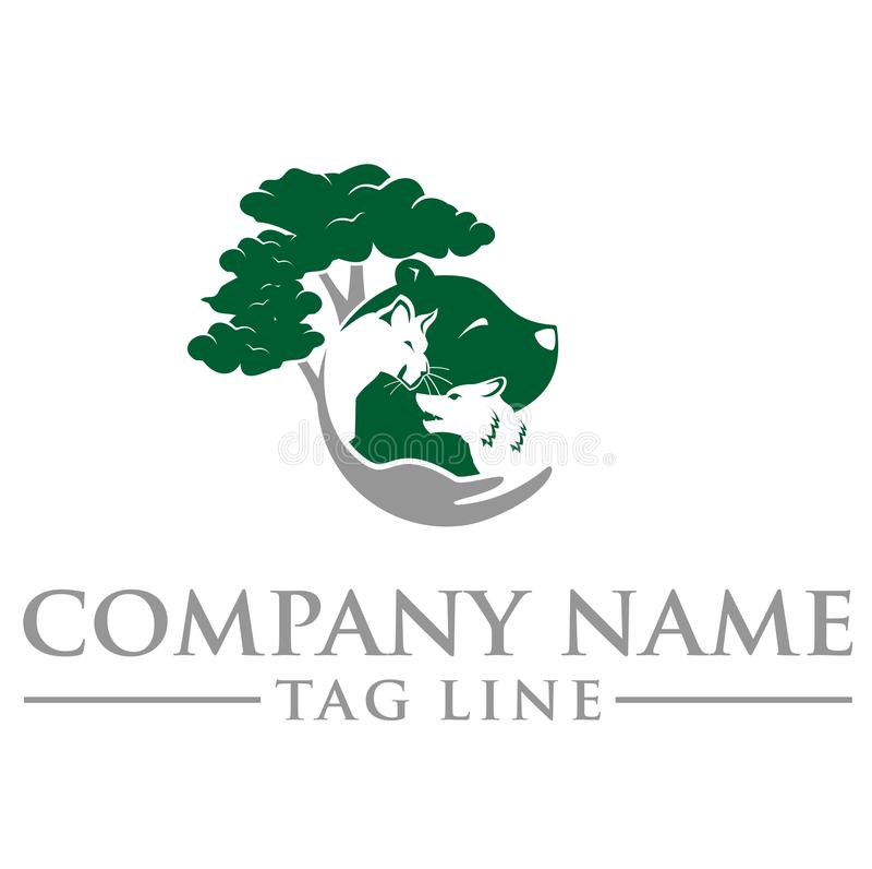 Ζωικό λογότυπο στοκ φωτογραφία με δικαίωμα ελεύθερης χρήσης