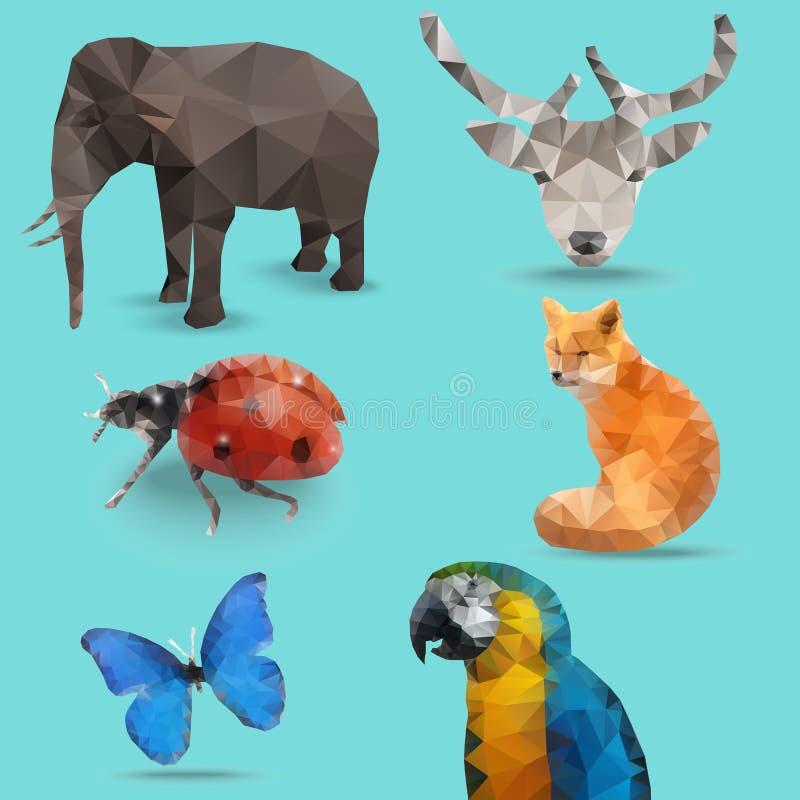 Ζωικό πολύγωνο απεικόνιση αποθεμάτων
