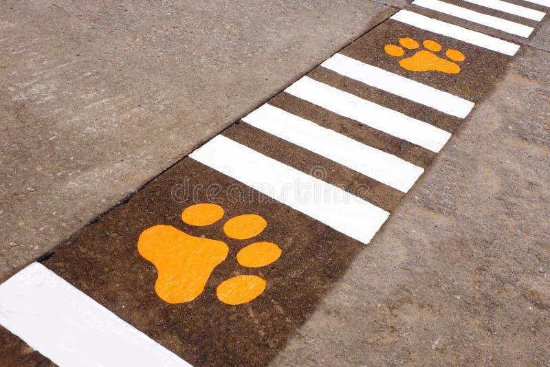 Ζωικό σημάδι στην οδό στοκ φωτογραφία