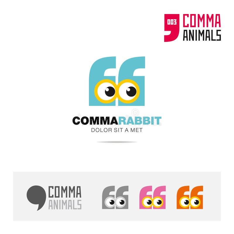 Ζωικό σύνολο εικονιδίων έννοιας κουνελιών και σύγχρονο πρότυπο λογότυπων ταυτότητας εμπορικών σημάτων και app σύμβολο βασισμένο σ απεικόνιση αποθεμάτων