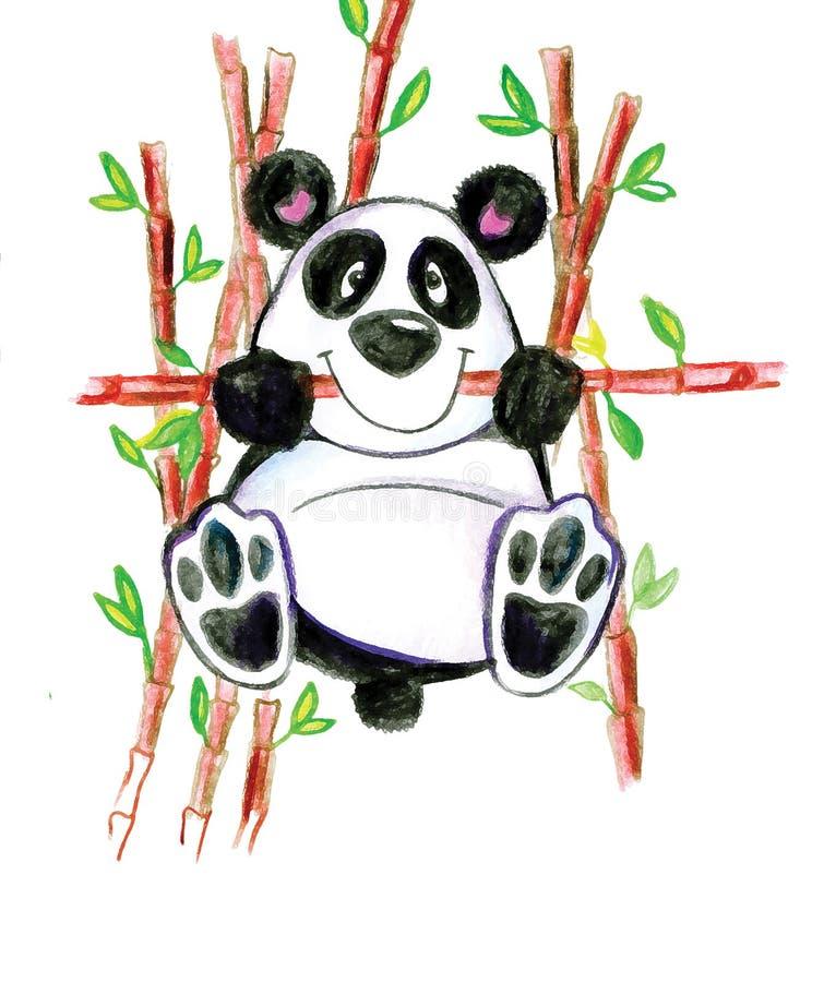 Ζωικό χαριτωμένο χαμόγελο παιδιών μπαμπού διασκέδασης της Panda πράσινο στοκ φωτογραφίες