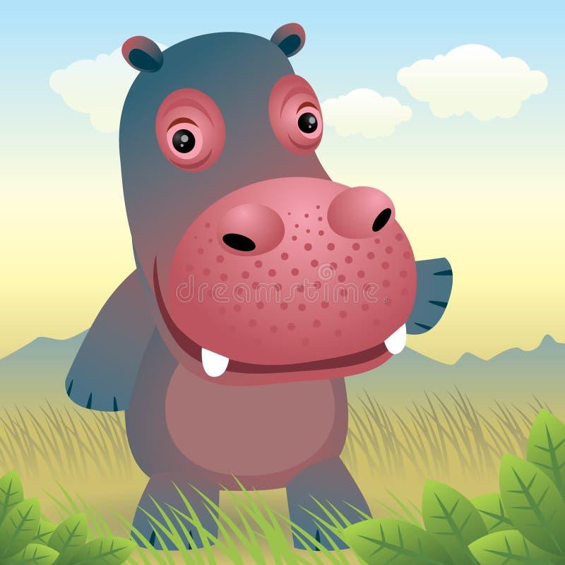 ζωικό hippo συλλογής μωρών ελεύθερη απεικόνιση δικαιώματος
