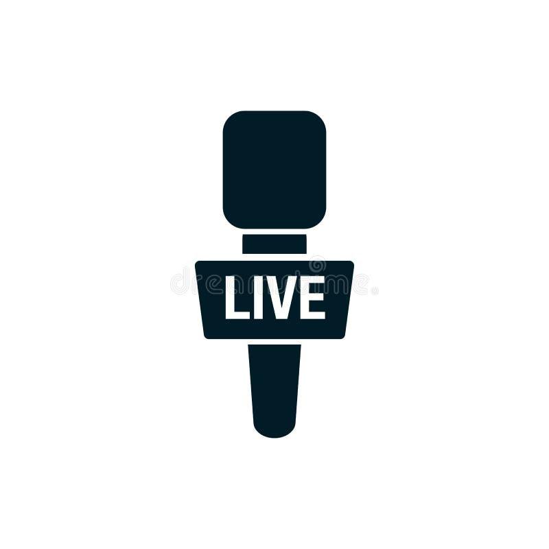 Ζωντανές ειδήσεις Micraphone - απλό εικονίδιο απεικόνιση αποθεμάτων