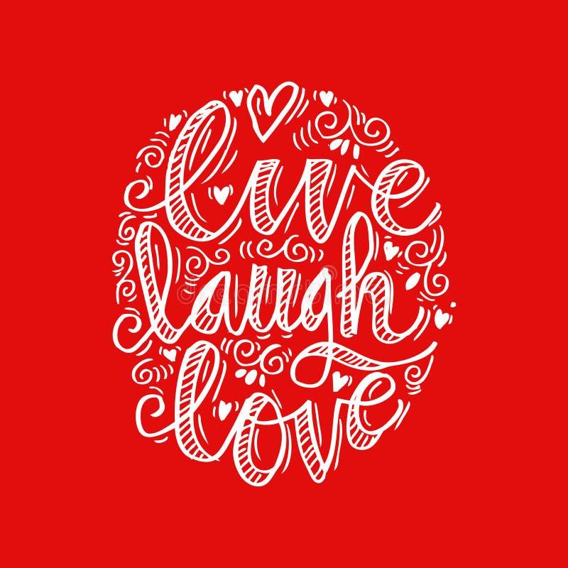 ζωντανή αγάπη γέλιου ελεύθερη απεικόνιση δικαιώματος