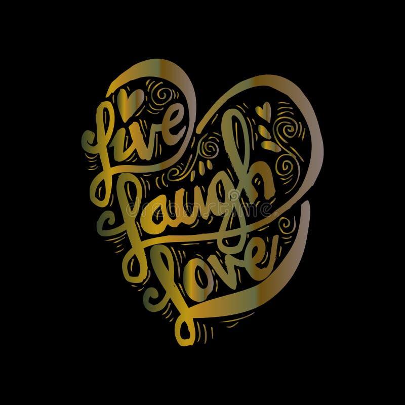ζωντανή αγάπη γέλιου διανυσματική απεικόνιση