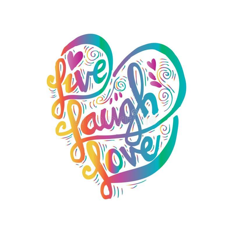 ζωντανή αγάπη γέλιου απεικόνιση αποθεμάτων