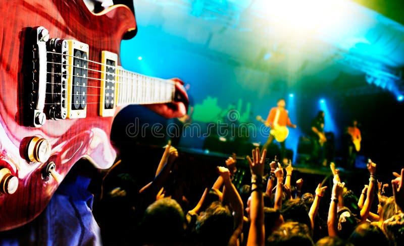 Ζωντανή ανασκόπηση μουσικής στοκ φωτογραφίες