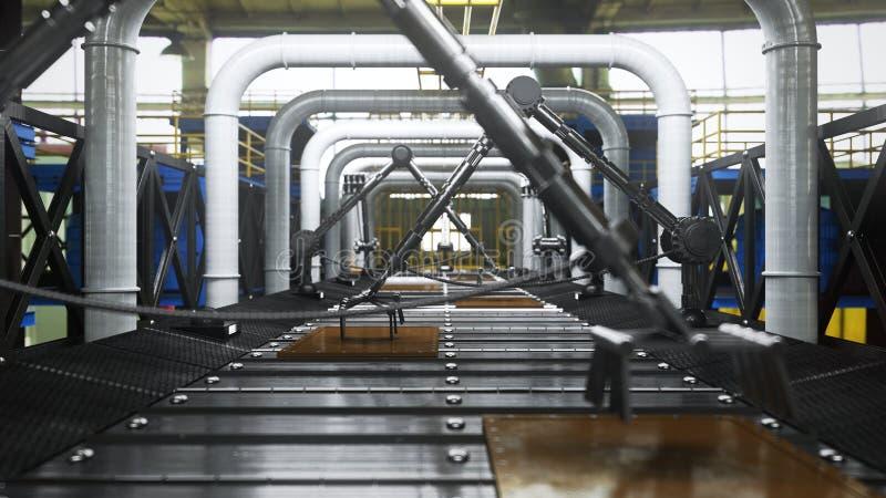 Ζωντανεψοντα αφηρημένο τεχνολογικό βιομηχανικό υπόβαθρο μεταφορέων στοκ φωτογραφίες