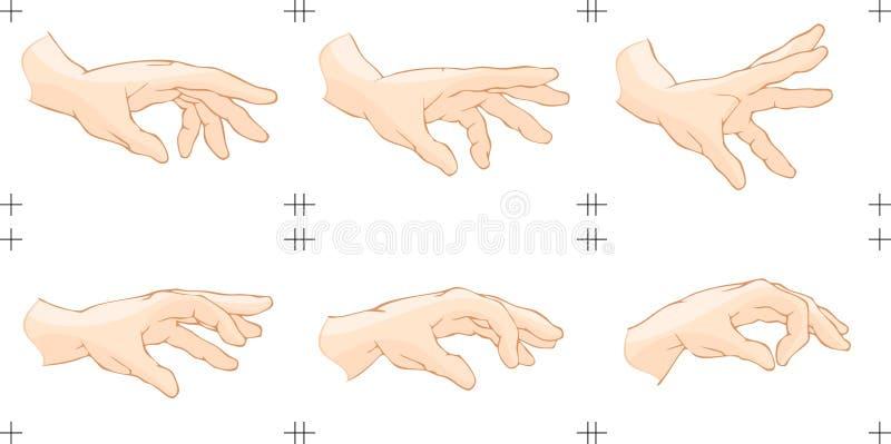 Ζωτικότητα σύλληψης χεριών διανυσματική απεικόνιση