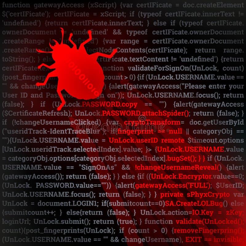 Ζωύφιο ιών διανυσματική απεικόνιση
