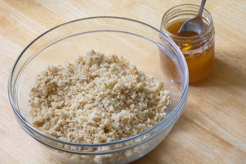 Ζύμη Shortcrust για oatmeal τα μπισκότα στοκ εικόνα με δικαίωμα ελεύθερης χρήσης