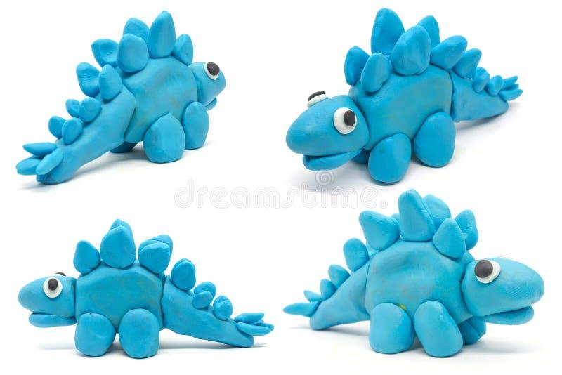Ζύμη Stegosaurus παιχνιδιού στο άσπρο υπόβαθρο στοκ φωτογραφία με δικαίωμα ελεύθερης χρήσης