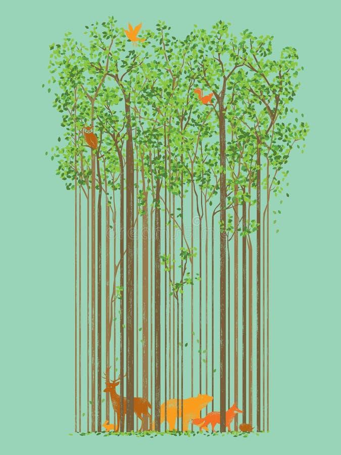 Ζώο και φύση διανυσματική απεικόνιση