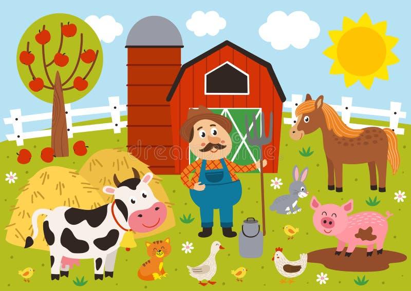 ζώα αγροτών και αγροκτημάτων barnyard ελεύθερη απεικόνιση δικαιώματος