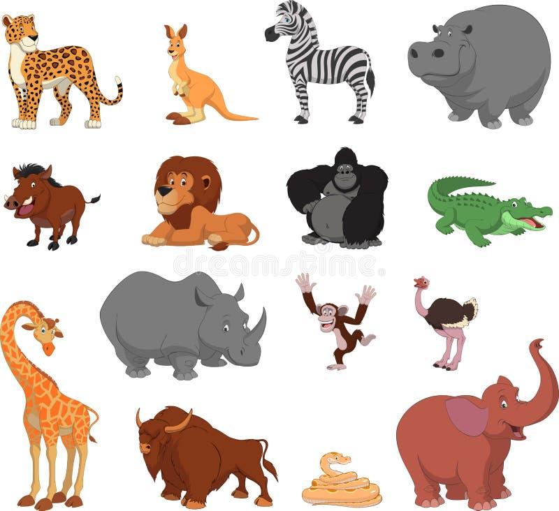 ζώα αστεία διανυσματική απεικόνιση