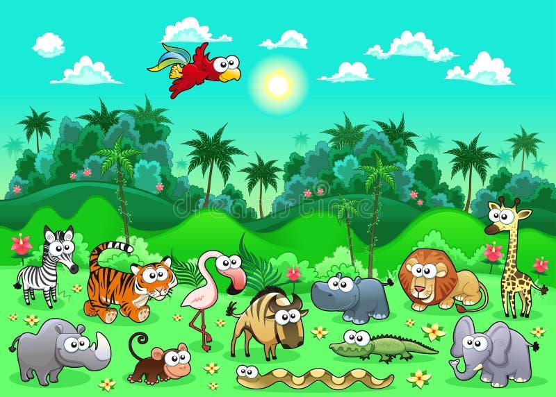 Ζώα ζουγκλών. διανυσματική απεικόνιση