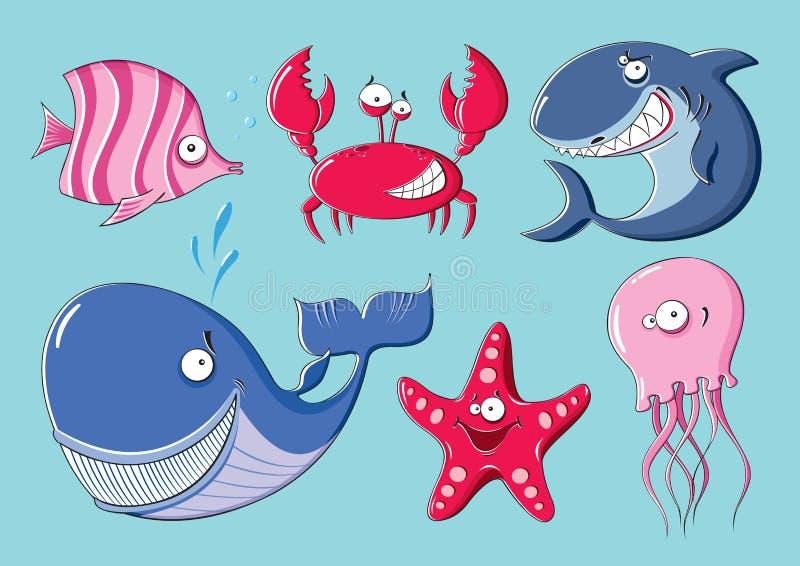 Ζώα θάλασσας ελεύθερη απεικόνιση δικαιώματος