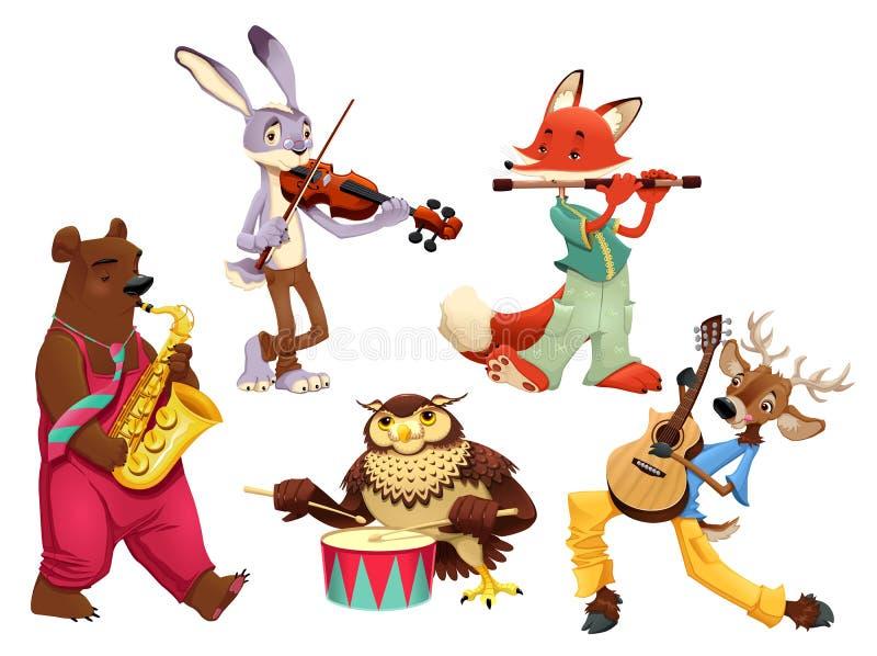 Ζώα μουσικών. διανυσματική απεικόνιση