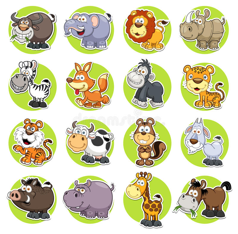 ζώα που τίθενται διανυσματική απεικόνιση
