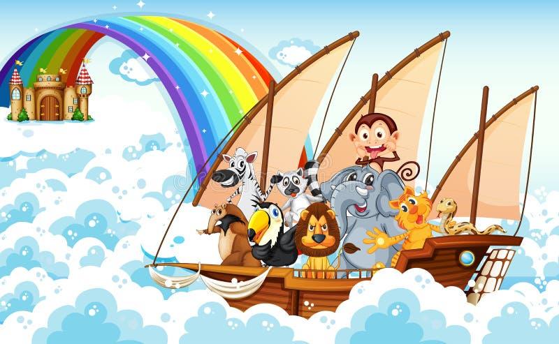 Ζώα στη βάρκα απεικόνιση αποθεμάτων