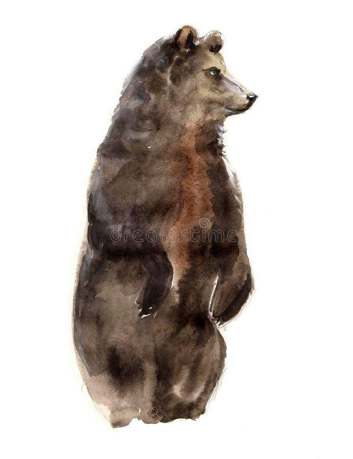 Ζώα Watercolor στοκ εικόνα