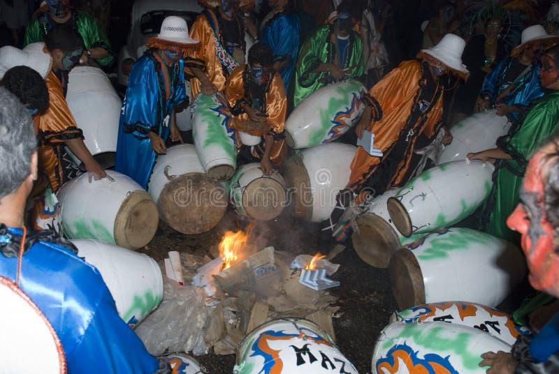 ζώνη καρναβάλι Μοντεβίδε&omicr στοκ φωτογραφία με δικαίωμα ελεύθερης χρήσης