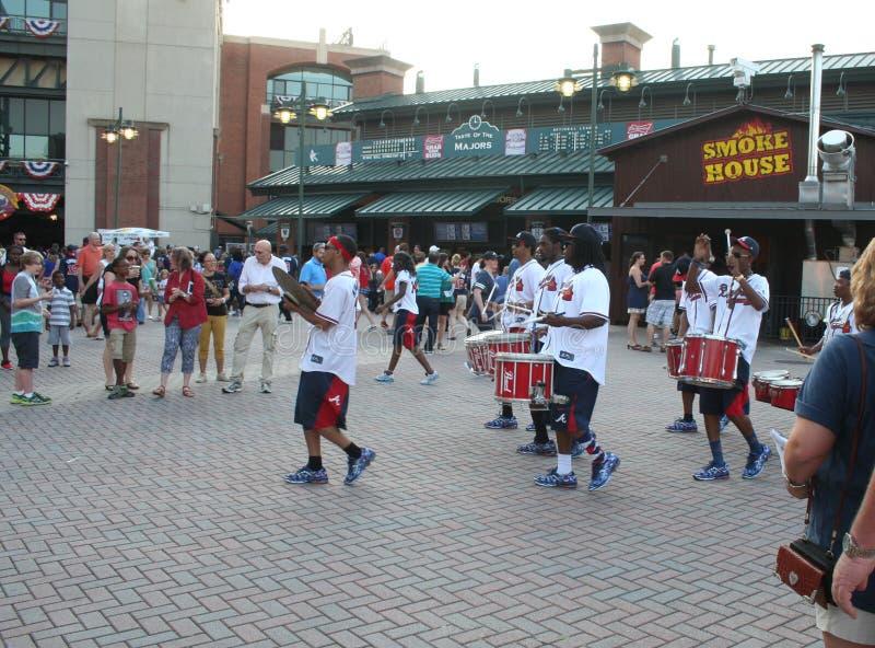 Ζώνη κρούσης πορείας στο παιχνίδι των Atlanta Braves στοκ φωτογραφίες με δικαίωμα ελεύθερης χρήσης