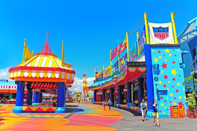 ζώνη παιχνιδιών στο ωκεάνιο πάρκο Χογκ Κογκ στοκ φωτογραφία με δικαίωμα ελεύθερης χρήσης